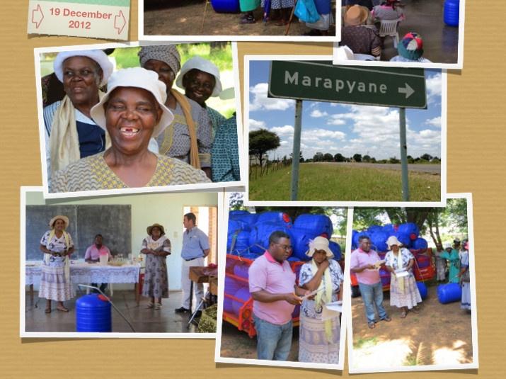 Marapyane handover collage
