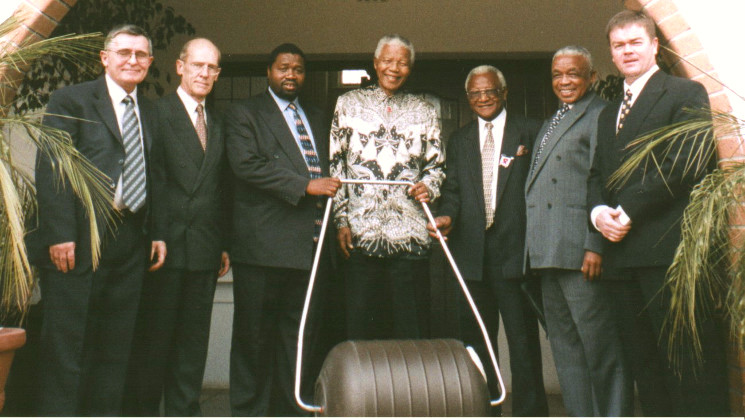 Nelson Mandela and Hippo Water Roller Project
