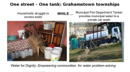 """One Street – One Tank"" campaign in Grahamstown"