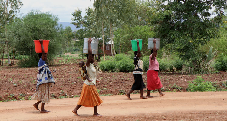 Women with water buckets