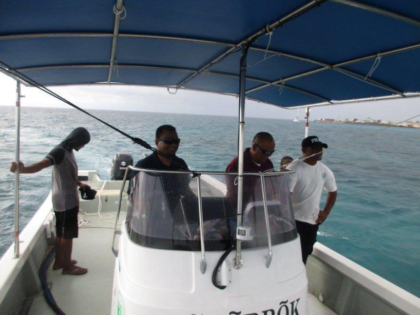 KADA Marshall Islands Hippo Rollers boat back to Ebeye