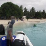 KADA Marshall Islands Hippo Rollers boat to Bikeej beach